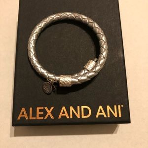 Alex and Ani Metallic Silver Wrap Bracelet